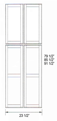 Parkview cabinets 91 1 2 quot h x 23 1 2 quot w x 3 4 quot d rta matching tall